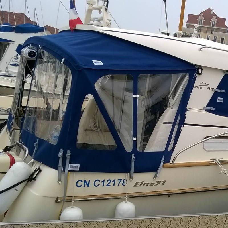 Fermeture arrière ACM Elite 31 fabrication sellerie Nautique Aerec