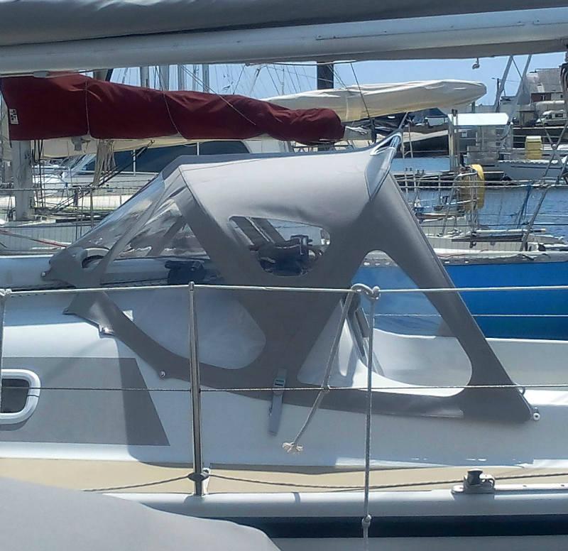 capote de bateau delher 28s SNA sellerie nautique aerec